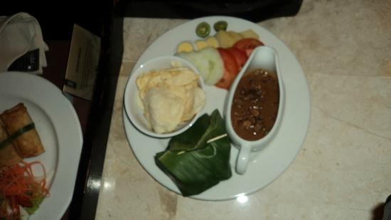 The Phoenix Hotel Yogyakarta - MGallery Collection: room service (gado-gado)