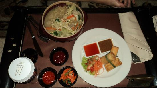 The Phoenix Hotel Yogyakarta - MGallery Collection: indonesian spring rolls and noddle (can't quite remember the name)