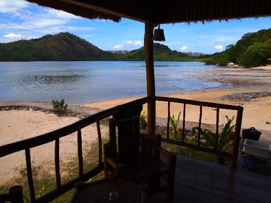 El Rio y Mar Resort: View from native cabana cottage