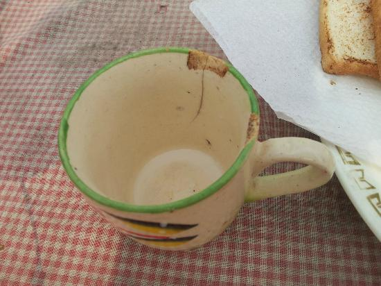 Pyrenees Homestay: cup used to serve milk