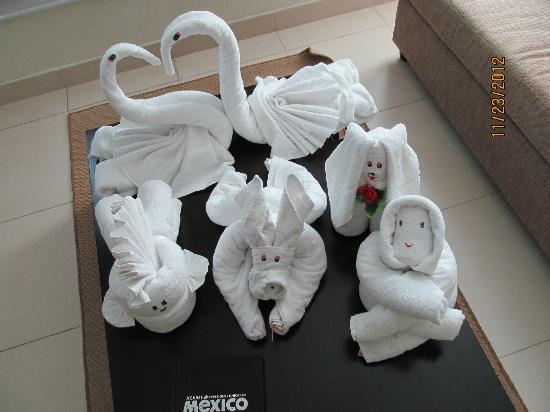 Luxury Bahia Principe Sian Ka'an Don Pablo Collection: We saved our towel art that was made for us each day