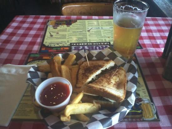 Huey's Southaven : Smokey Melt Burger with steak fries...