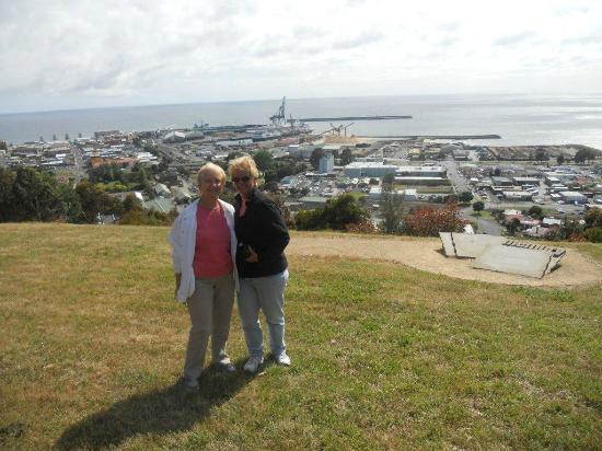 Play A Round in Tassie Day Tours: Campbell's Lookout - Burnie with Volendam in background