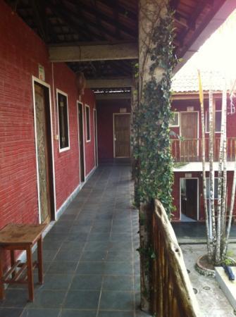 Area externa dis quartos - Pousada da Jiboia