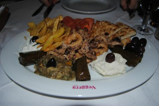 Veggera Hotel: variado de entrantes griegos