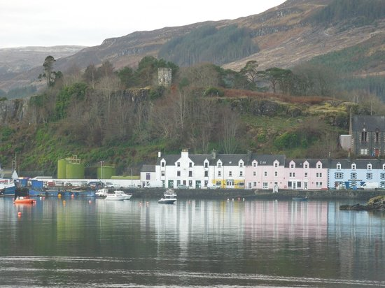 Cuillin Hills Hotel:                   Looking over to Portree from the hotel