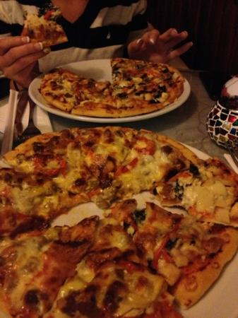 Ozi Pizza and Pasta : Tuscan pizza and Lamb BBQ pizza