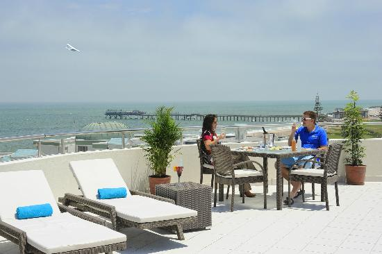 Beach Hotel Swakopmund: Lunch on the roofe terrace