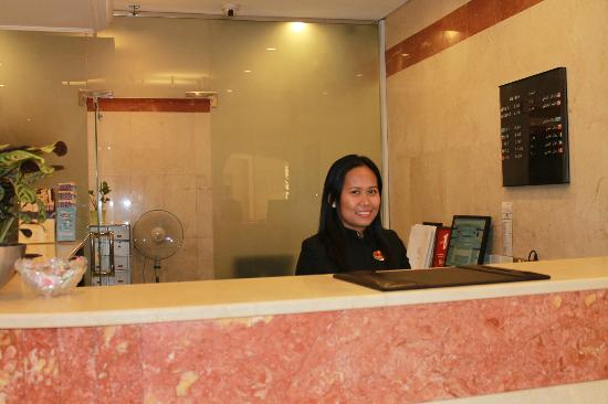 Savoy Central Hotel Apartments: reception desk