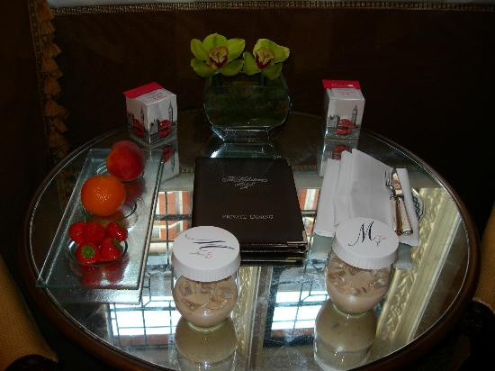 The Milestone Hotel: Our welcome tray