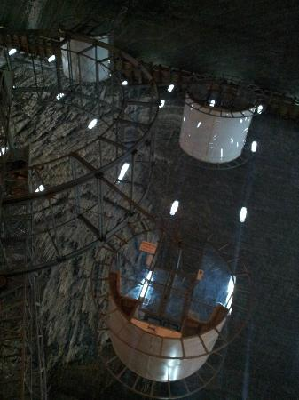 Turda Salt Mine: Noria en la salina