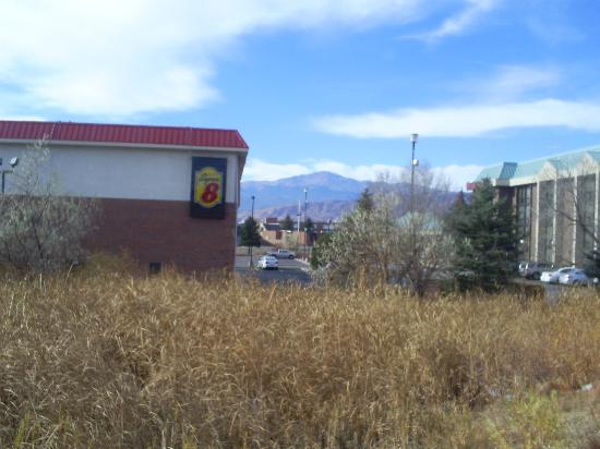 Super 8 Colorado Springs/AFA Area: View of Pikes Peak from motel