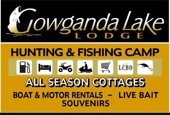 Gowganda Lake Lodge : sign