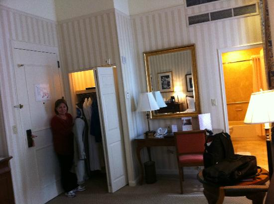 The Langham, Boston: one of the closets and office deck