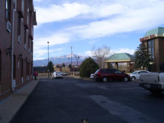 Super 8 Colorado Springs/AFA Area: Pikes Peak from motel