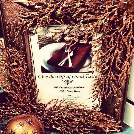 Winfield's Restaurant: Give the Gift of Good Taste!