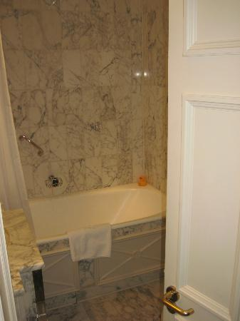The Stafford London: Bathroom with rubber duck guarding the bath!