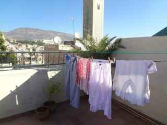 Dar Sienna: my laundry, drying in the desert air on our rooftop