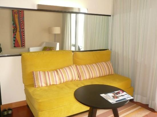 Sofa in our room at Pestana Promenade