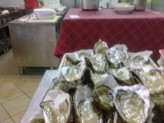 La Cantina dei Pescatori: ostriche