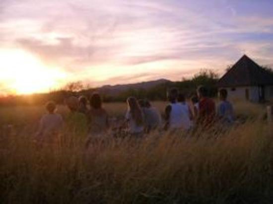 Tree of Life Center US: Sunset Meditations form the hub of spiritual community life.