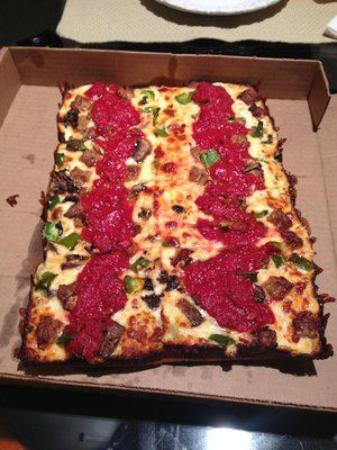 Pizza Squared: 8 Square