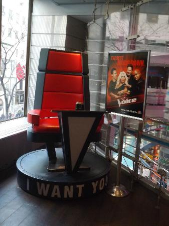 The Shop at NBC Studios: The Voice Chair, 2nd level of store