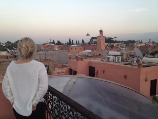 Riad Anya: roof terrace view