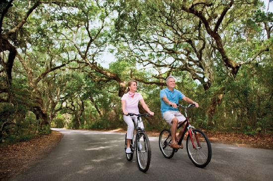 Pulau Amelia, FL: Take a bike ride under canopies of 100-year-old oaks