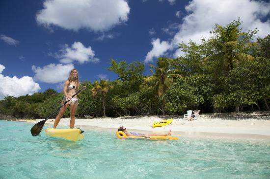 Caneel Bay, St. John: choose: stand up paddleboard, float and beach chair... as well as snorkel gear rentals & lockers