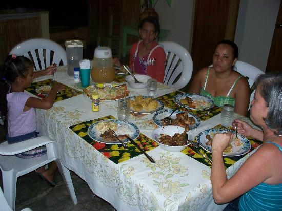 Casa De Las Anas: dinner with family