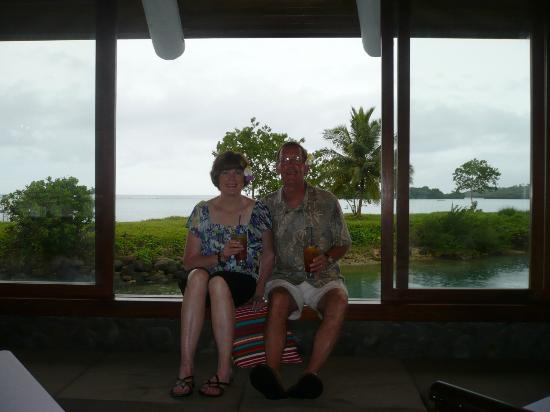 Koro Sun Resort and Rainforest Spa: At the seaside restaurant.