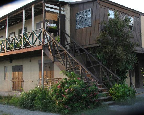 My Little Guest House, SXM: The entrance is upstairs behind a locked gate