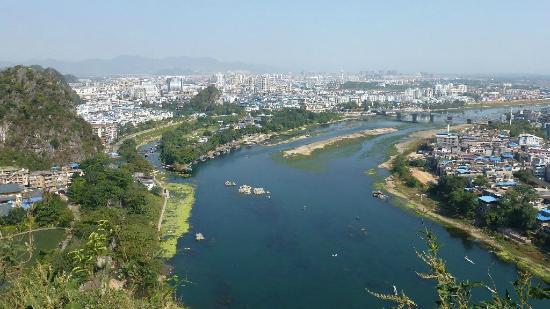 Folded Brocade Hill (Diecai Hill): Li River and Guilin