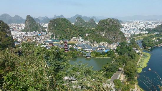 Folded Brocade Hill (Diecai Hill): Hills Surrounding Guilin