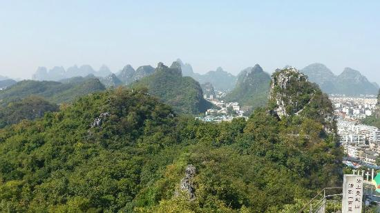 Folded Brocade Hill (Diecai Hill): Beautiful Hills around Guilin