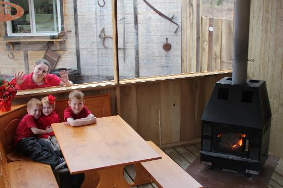 The Wagon Trail: Heated indoor seating