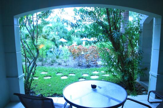 Royal West Indies Resort: Botanical View patio (DBFpro photo)