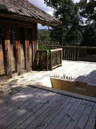 Soneva Kiri: bathroom area of our villa