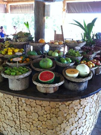 Soneva Kiri Thailand: fruit selection at the breakfast