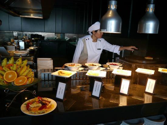 Hilton Pattaya: 朝食のパンケーキコーナー