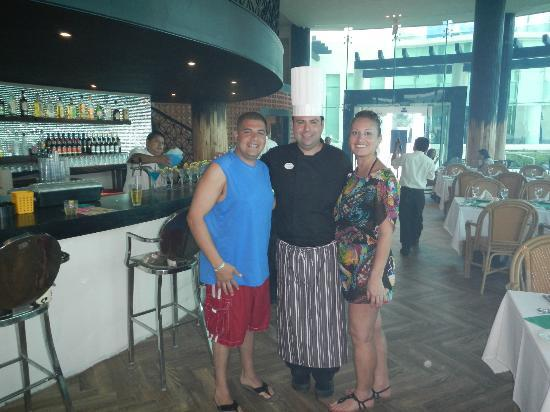 Hard Rock Hotel Cancun: The Head Chef of the Resort, Angel Ignacio, very nice guy!