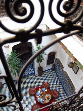 Dar el Ma: View of first floor from second floor bedroom