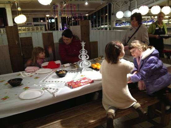 Greencafe at Millbrook Garden Centre: Christmas Tea, awaiting Santa