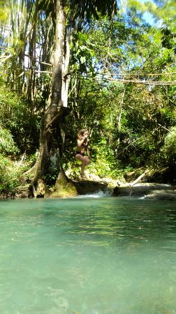Thriller Tours Jamaica: Yes, you can jump!