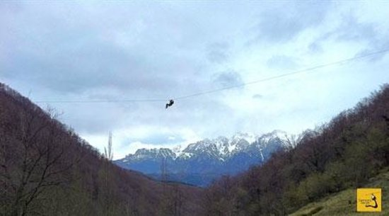 Potes, España: foto de un tramo espectacular (es de la web de la empresa)