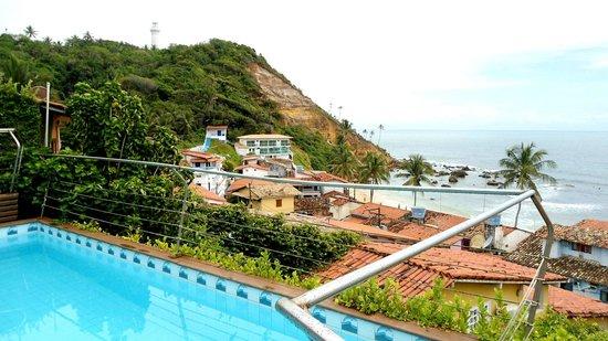 """Hotel Pousada Ilha da Saudade: Vista linda.....da pra vê a galera descer na """"Tiroleza"""" bom d+"""