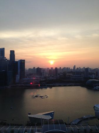 View from our room over Marina Bay