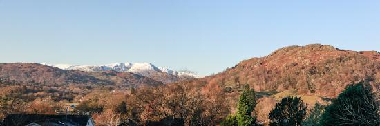 The Fisherbeck: The view from our second floor rooms over Loughrigg and the surrounding fells.