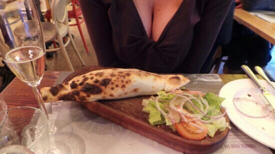 delicious calzone at fornata